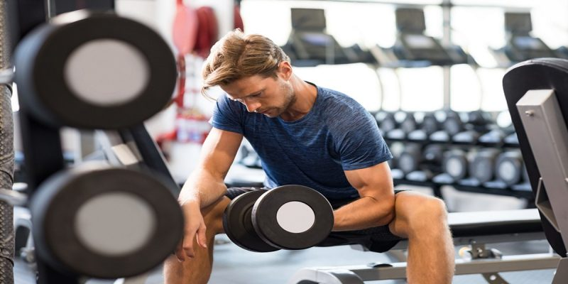 Story of VAT free gym memberships shown by man training at the gym