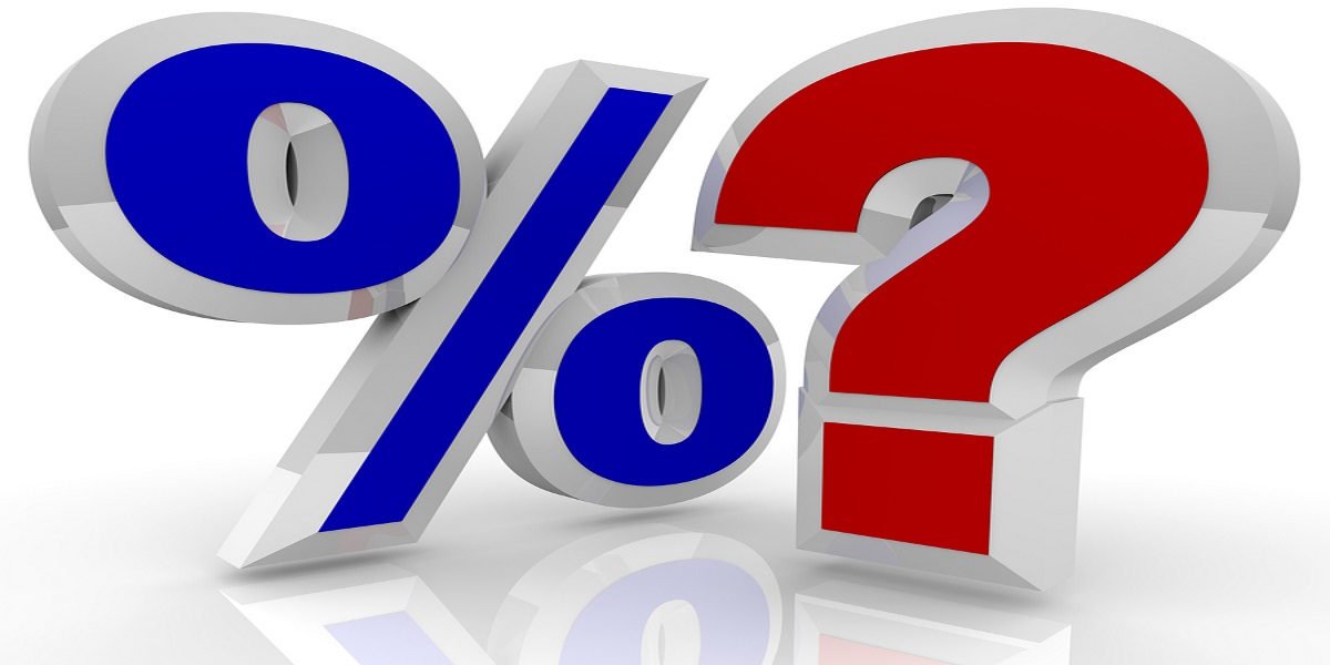 Percentage and question mark symbols showing a question over HMRC's interest rates