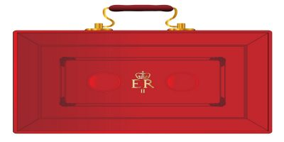 Image of the Chancellor's red case holding the 2018 Budget