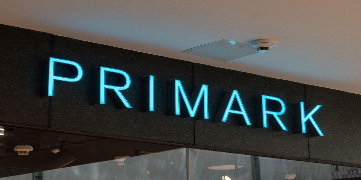 Light blue shop front sign for Primark.