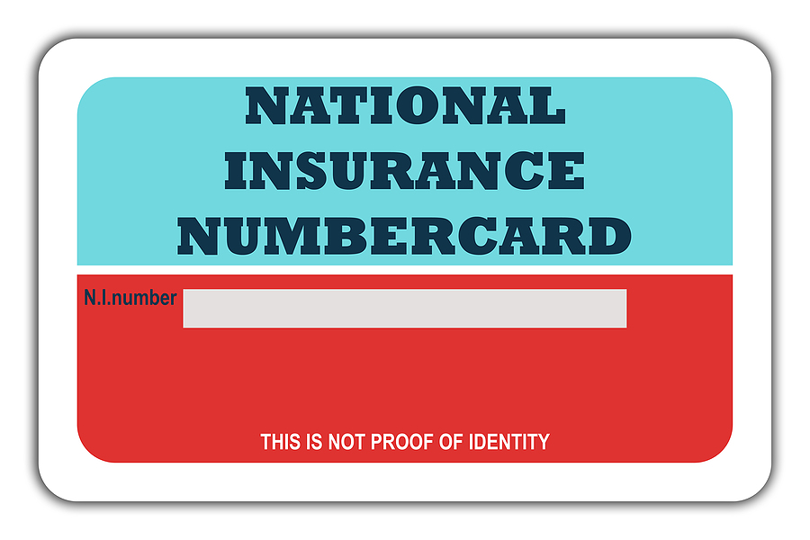 Photo of blank old UK National Insurance card.